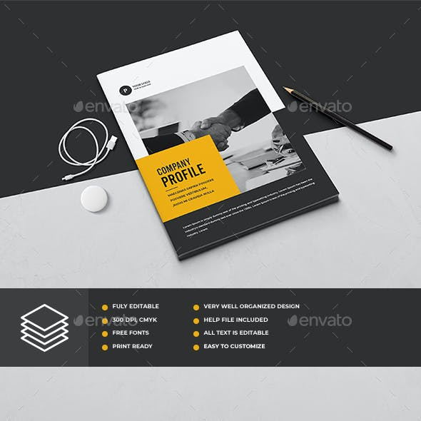 Company Profile Elegant Graphics, Designs & Templates