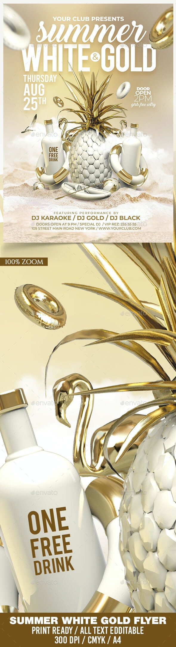 Summer White Gold - Clubs & Parties Events