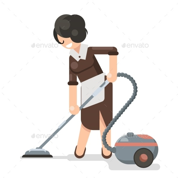 Housemaid Cleaner Vacuum Cleaner Cleanliness Flat - People Characters