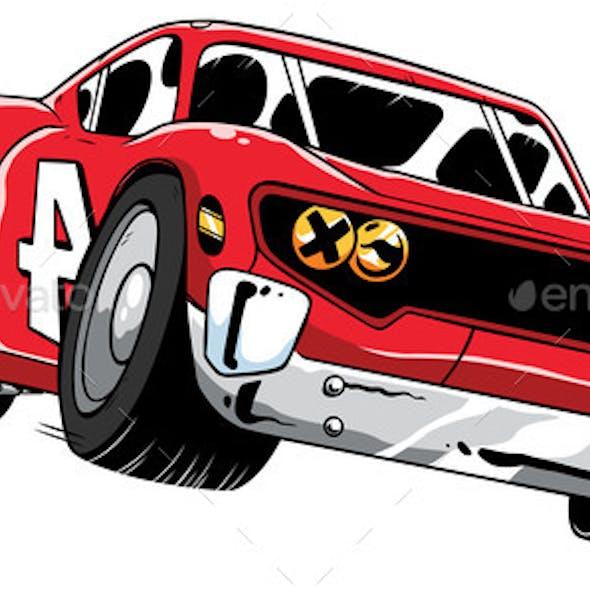 Race Car Speeding
