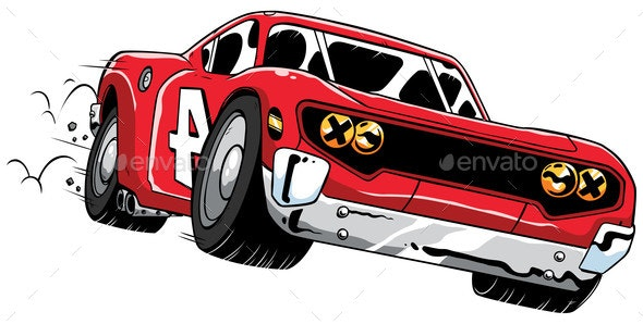 Race Car Speeding - Sports/Activity Conceptual