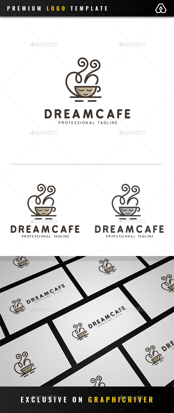 Dream Cafe Logo - Food Logo Templates