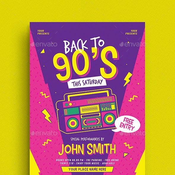 90s Radio Music Flyer
