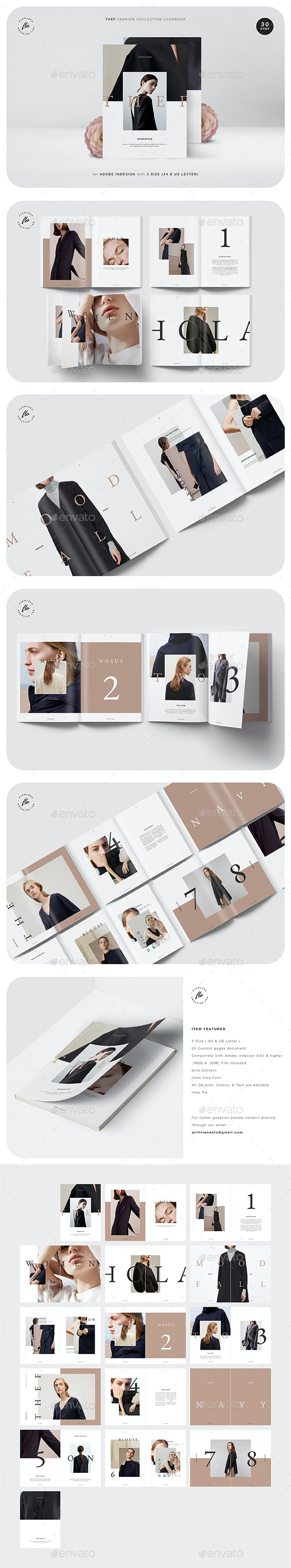 Thef Fashion Collection Lookbook - Magazines Print Templates
