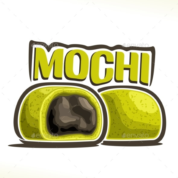 Vector Logo for Japanese Dessert Mochi - Food Objects
