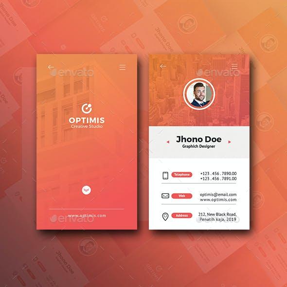 Vertical Creative Business Card