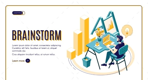 Business Startup Isometric Vector Landing Page - Business Conceptual
