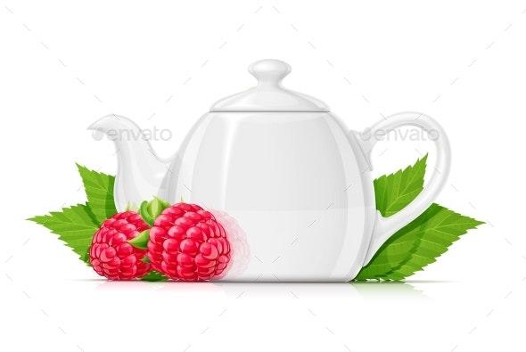 Raspberry Tea - Food Objects