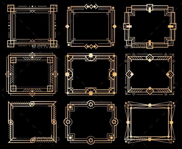 Art Deco Frames - Borders Decorative