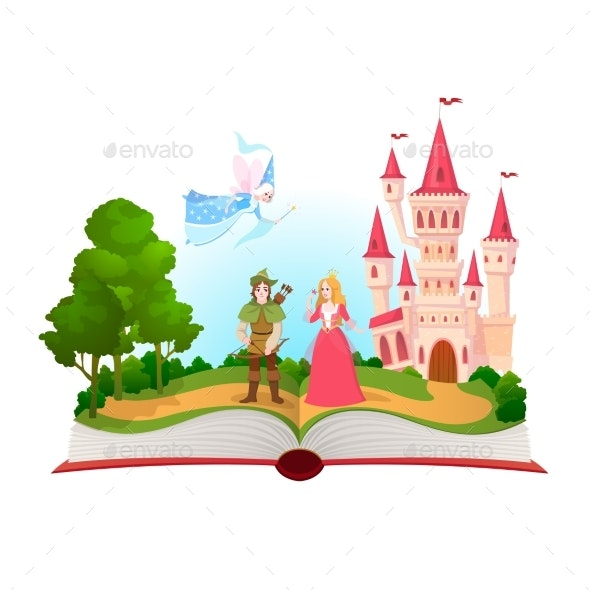 Fairy Tales Book - Miscellaneous Vectors