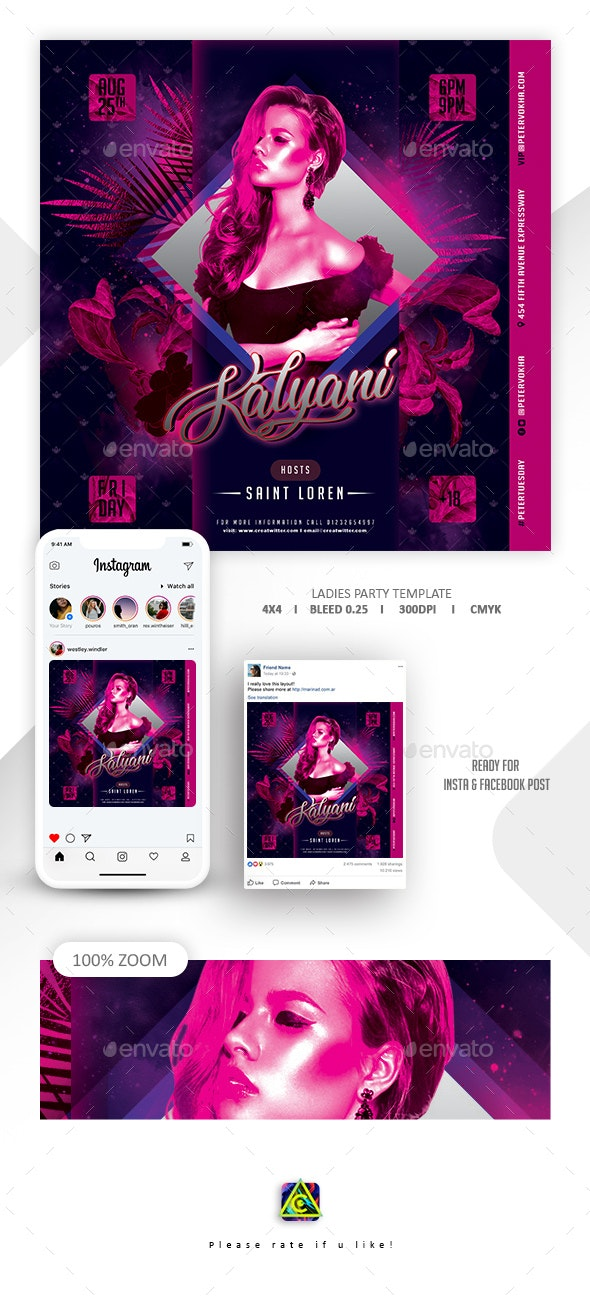 Ladies Flyer Template - Clubs & Parties Events