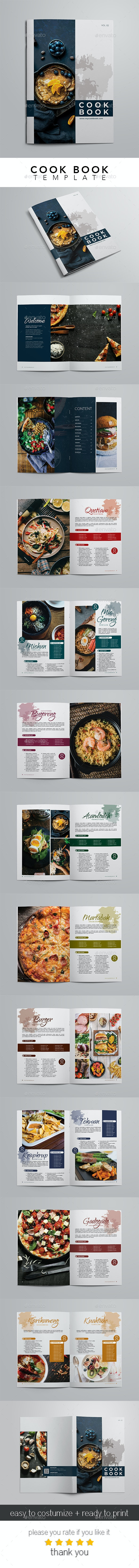 Cook Book and Recipes - Brochures Print Templates