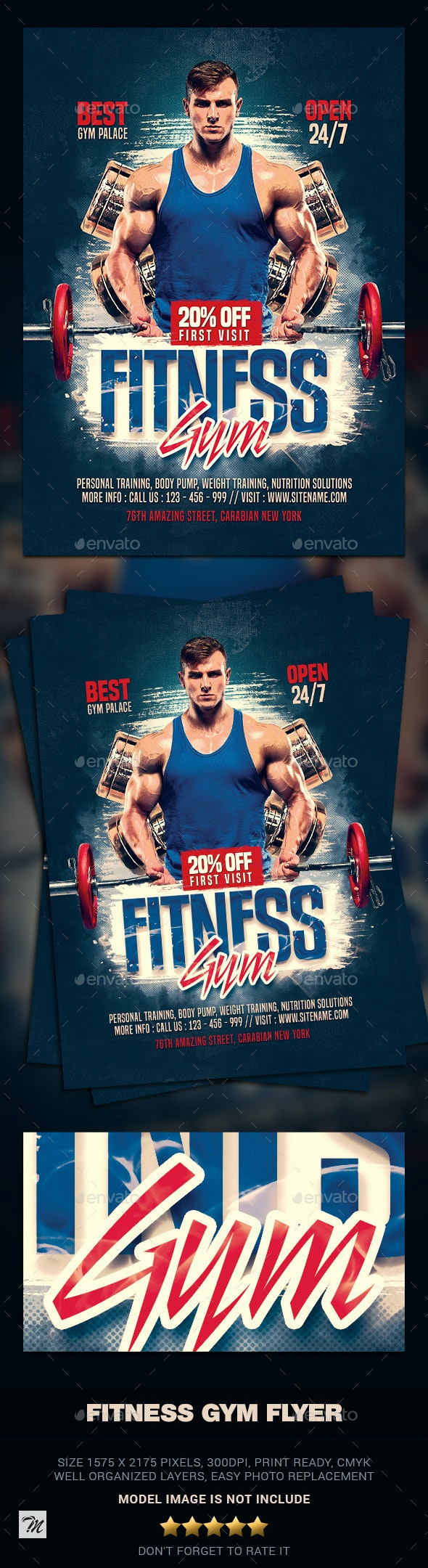 Fitness Gym Flyer - Sports Events