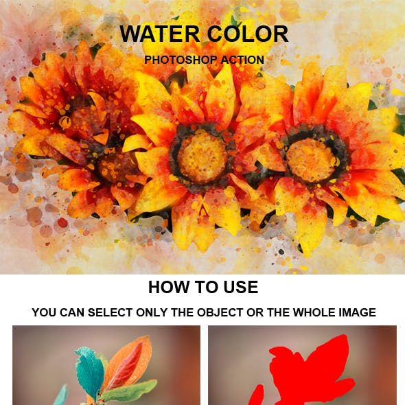 Water Color Photoshop Action