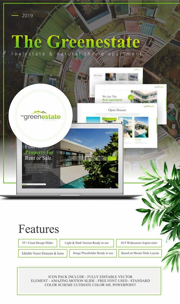 Greenestate Real Estate Keynote Template - Keynote Templates Presentation Templates