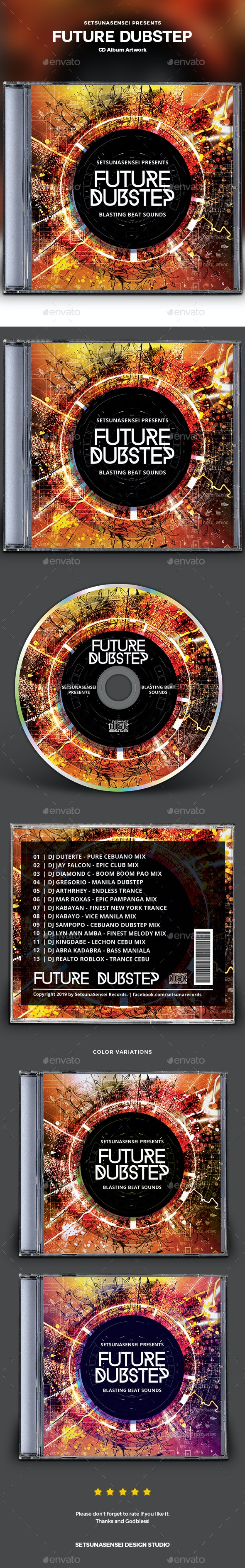 Future Dubstep CD Album Artwork - CD & DVD Artwork Print Templates