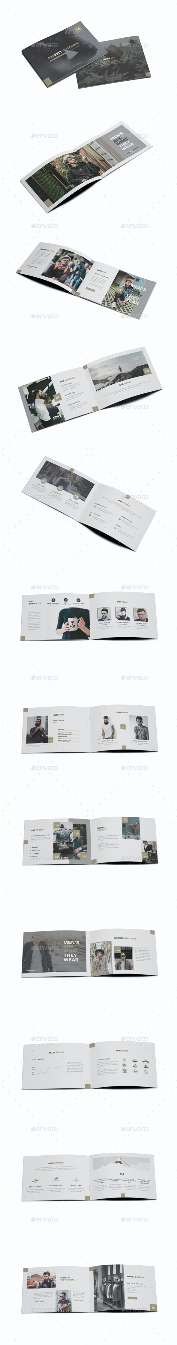 Man Fashion A5 Brochure Template - Brochures Print Templates