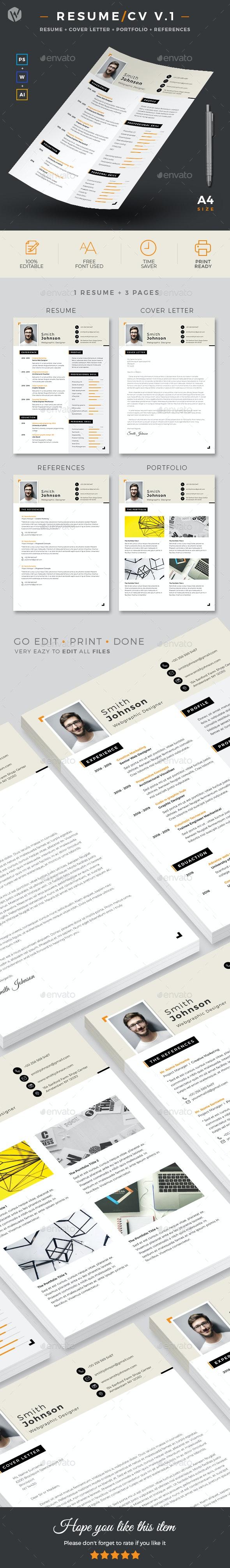 Resume/CV V.1 - Resumes Stationery