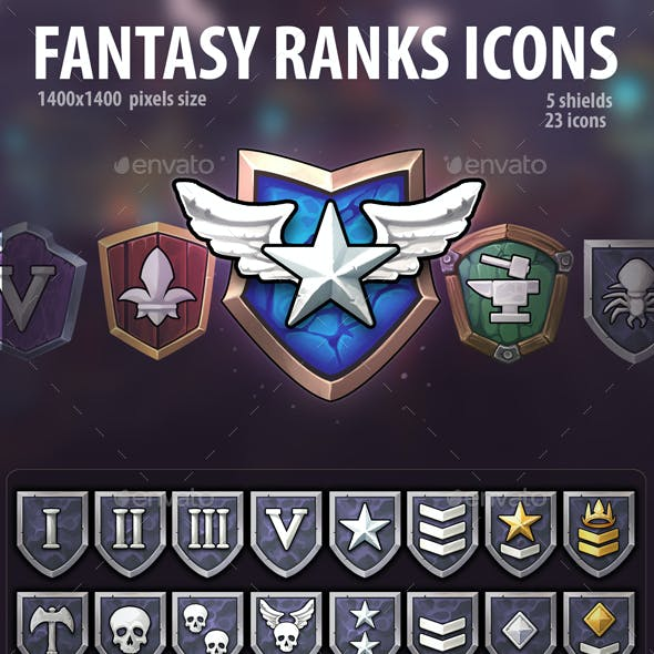 Fantasy Ranks Icons