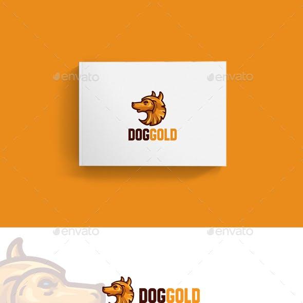 Dog Gold Logo Template
