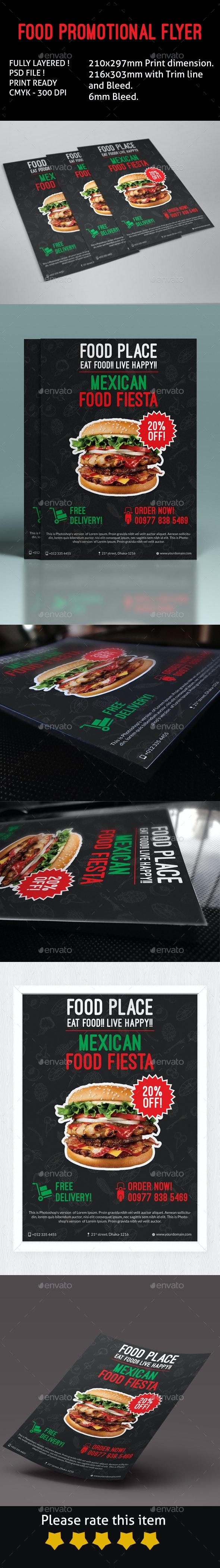 Food Promotional Flyer - Restaurant Flyers