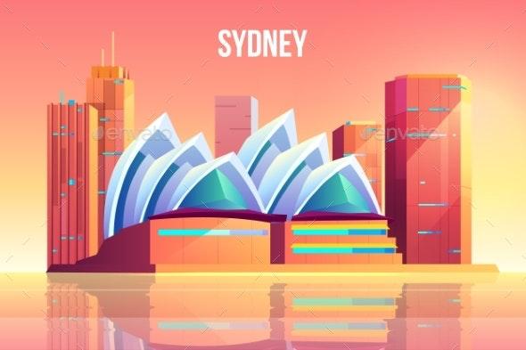 Sydney City with Opera Theater Skyline Australia - Buildings Objects