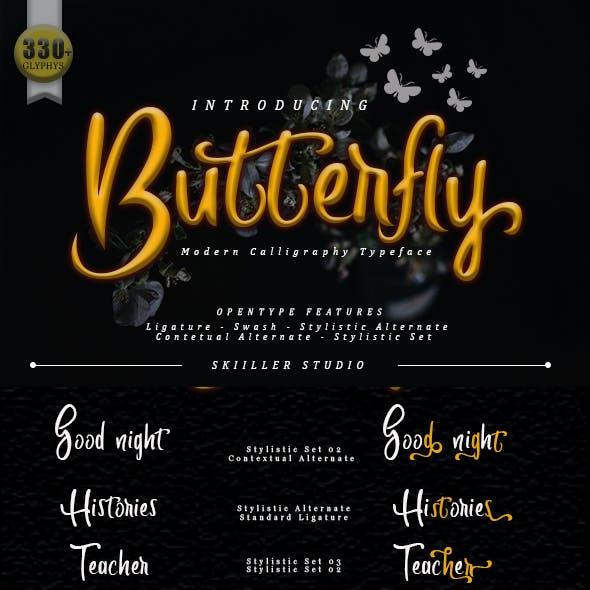 Butterfly Font Script