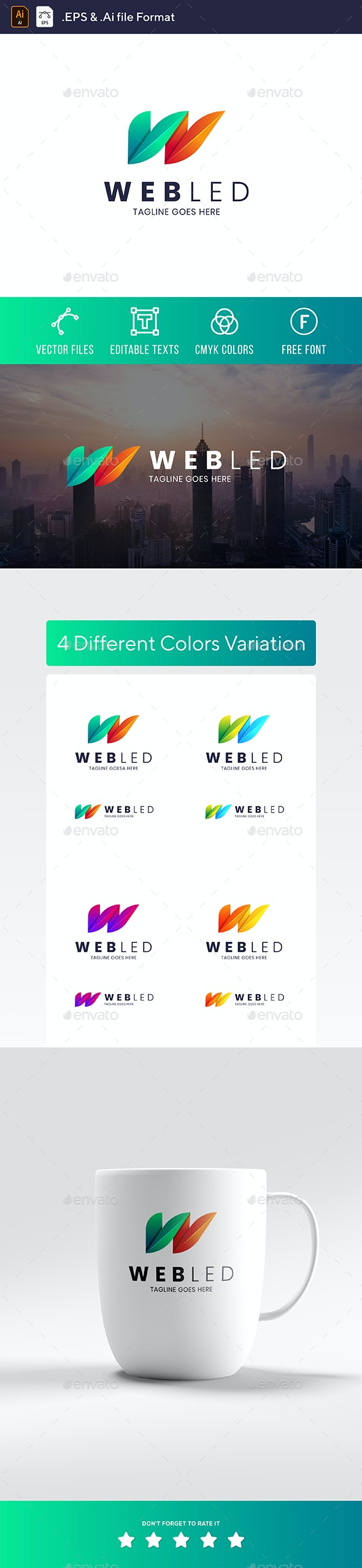 Webled - W Letter Logo - Letters Logo Templates