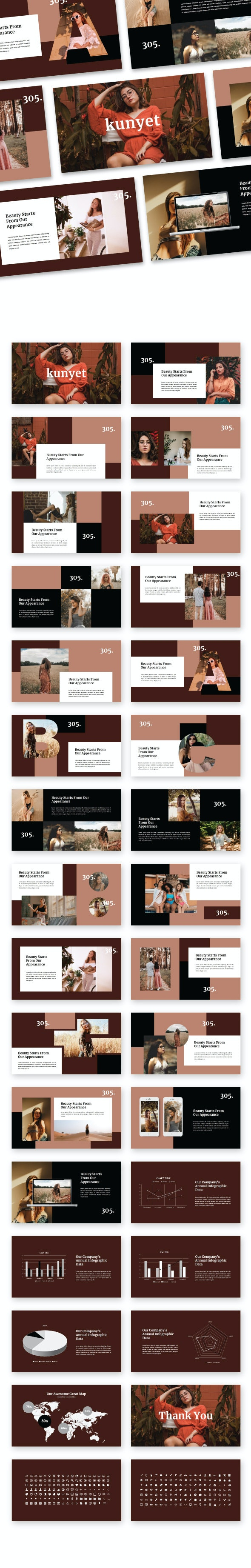 Kunyet - Fashion & Modeling PowerPoint - Creative PowerPoint Templates