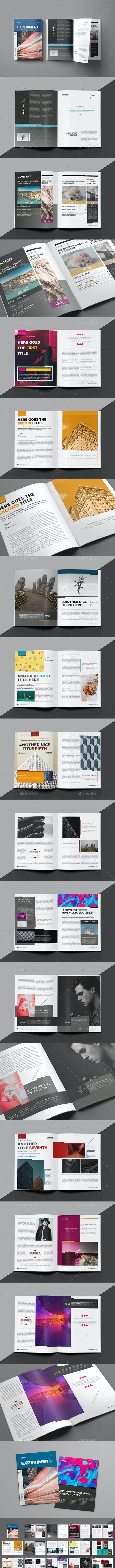 Experiment Magazine Template - Magazines Print Templates
