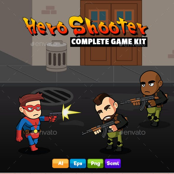 Hero Shooter - Complete Game Kit