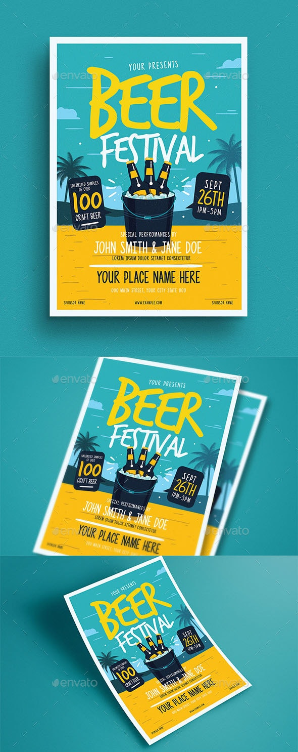 Summer Beer Festival Flyer - Flyers Print Templates