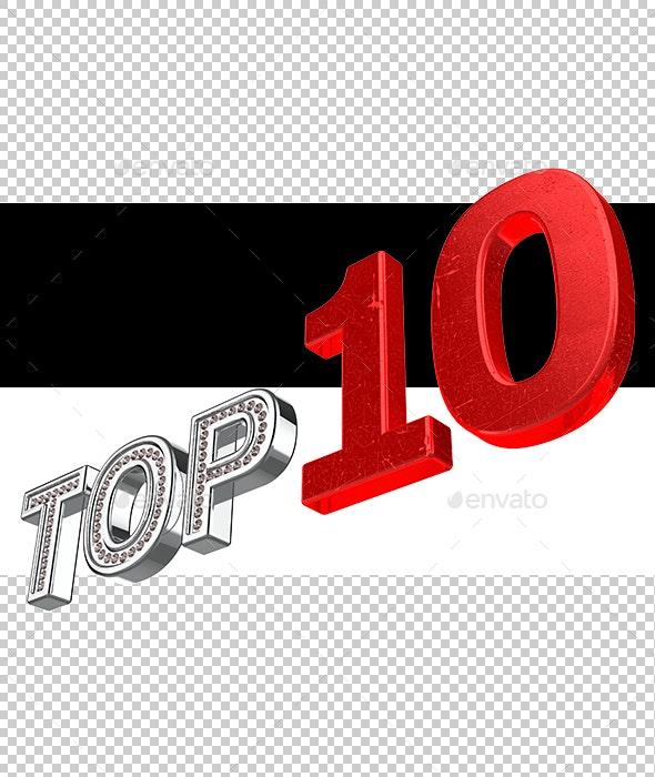 Top 10 - Text 3D Renders