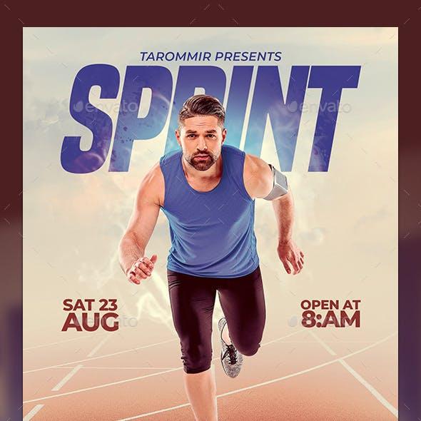 Sprint Run Flyer