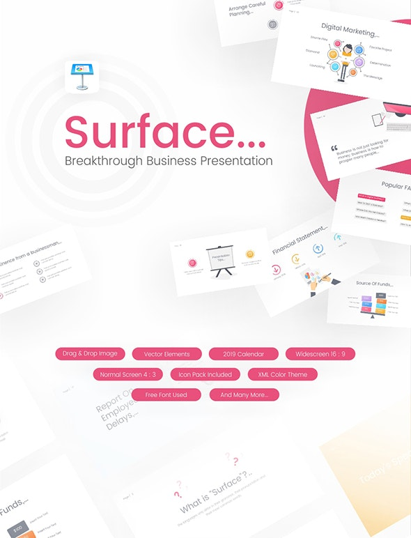 Surface - Business Keynote Template - Keynote Templates Presentation Templates
