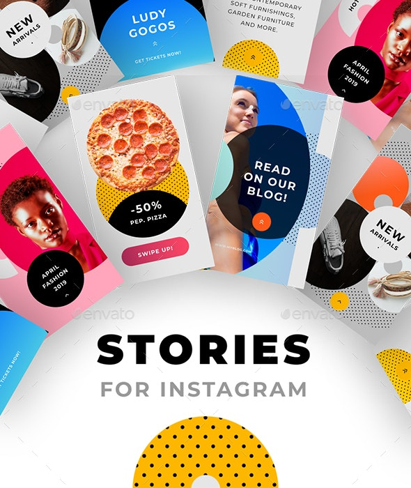 Instagram Stories Pack No.1 - Social Media Web Elements