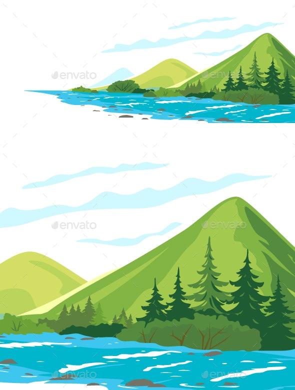 Mountain River - Landscapes Nature