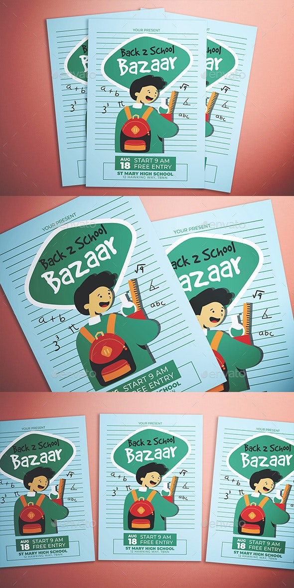 Back To School Bazaar Flyer - Flyers Print Templates