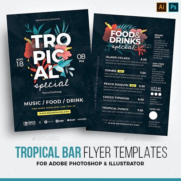 Tropical Flyer / Bar Menu