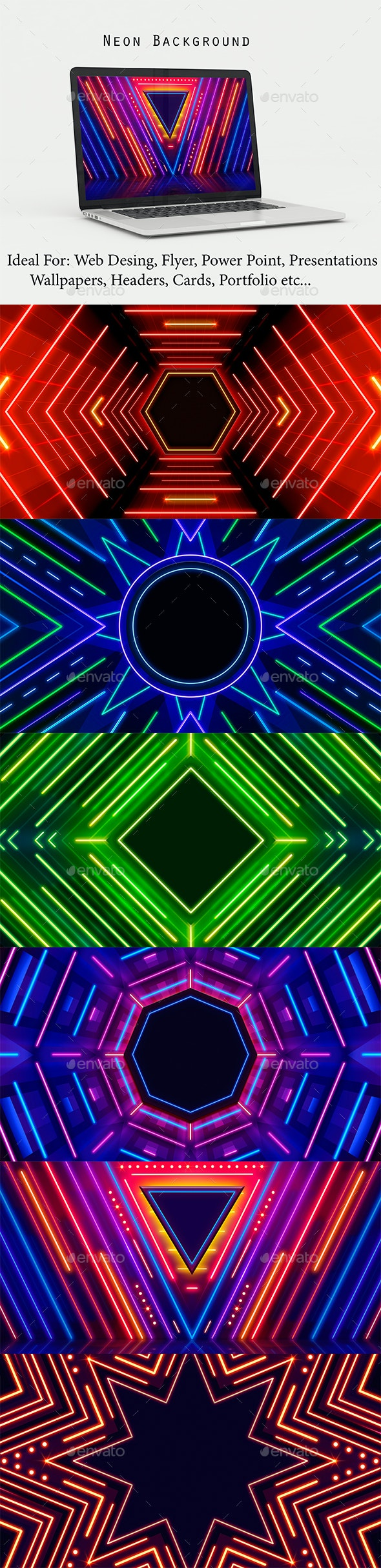 Neon Background - Backgrounds Graphics