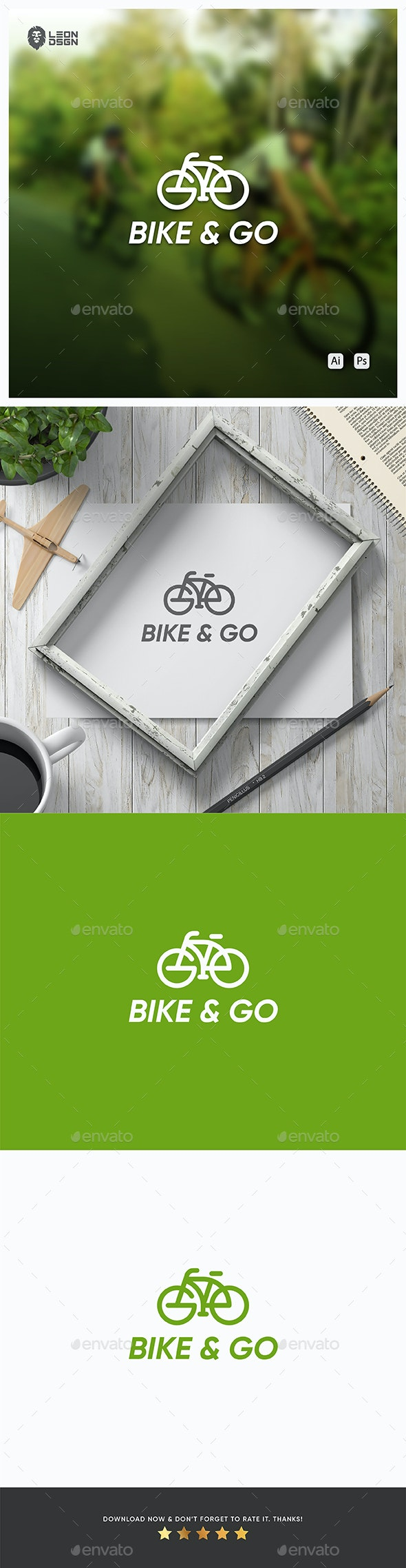 Bike & Go Logo - Abstract Logo Templates