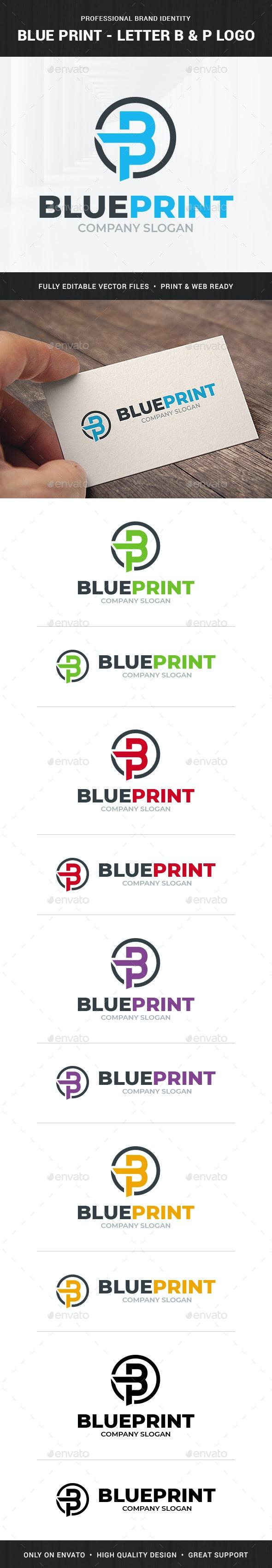 BluePrint - Letter B & P Logo - Letters Logo Templates
