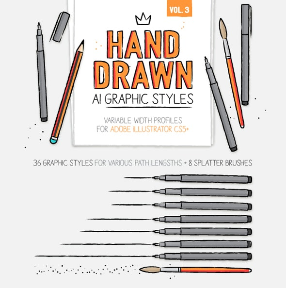 AI handmade styles and brushes vol.3 - Styles Illustrator