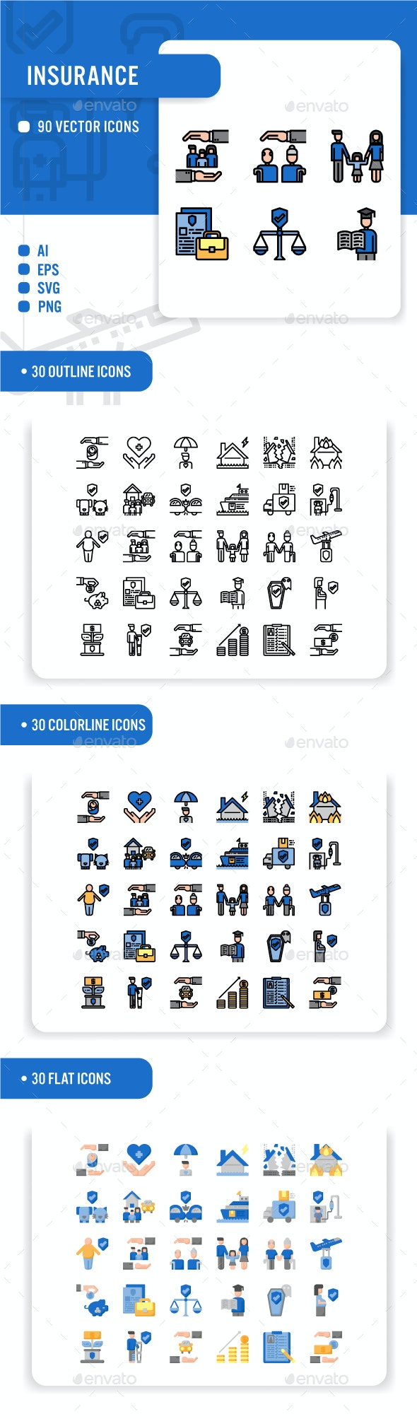Insurance Icon Set - Business Icons