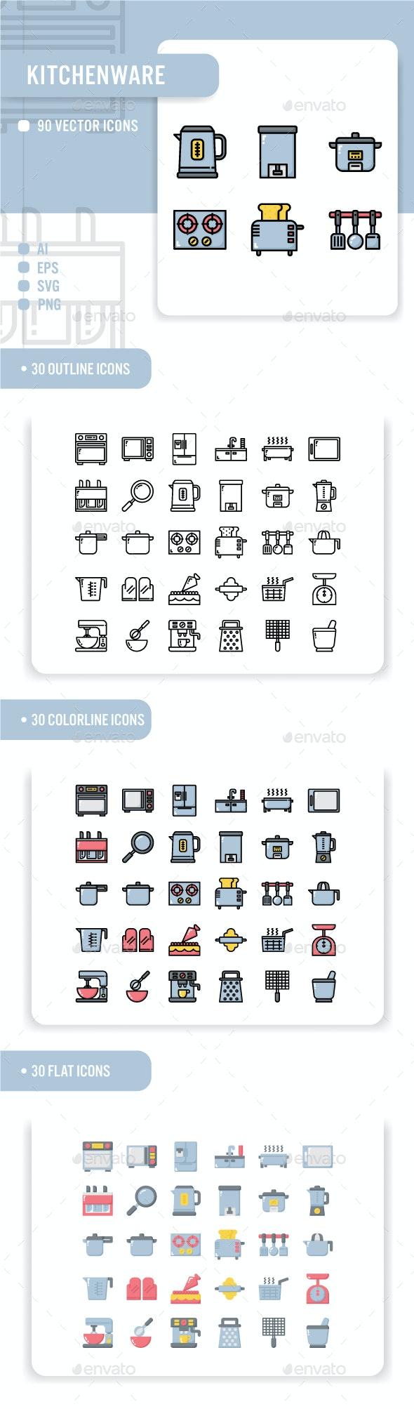 Kitchenware Icon Set - Miscellaneous Icons