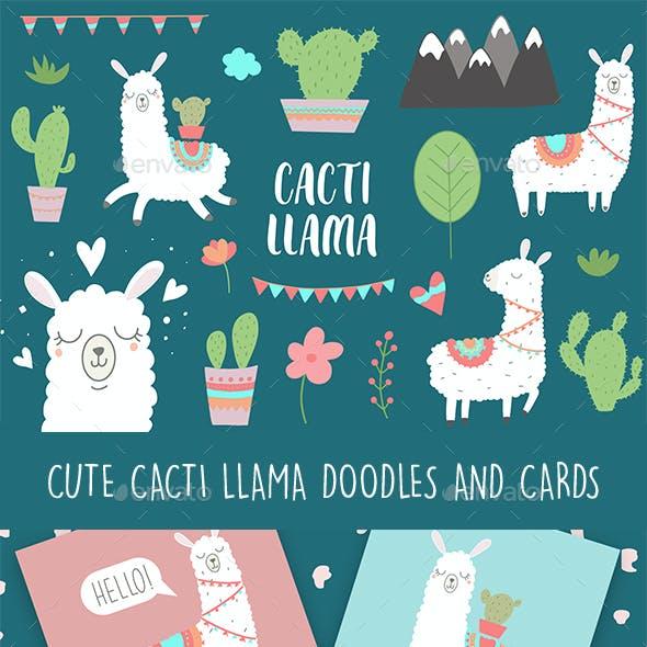 Llama Doodles and Cards