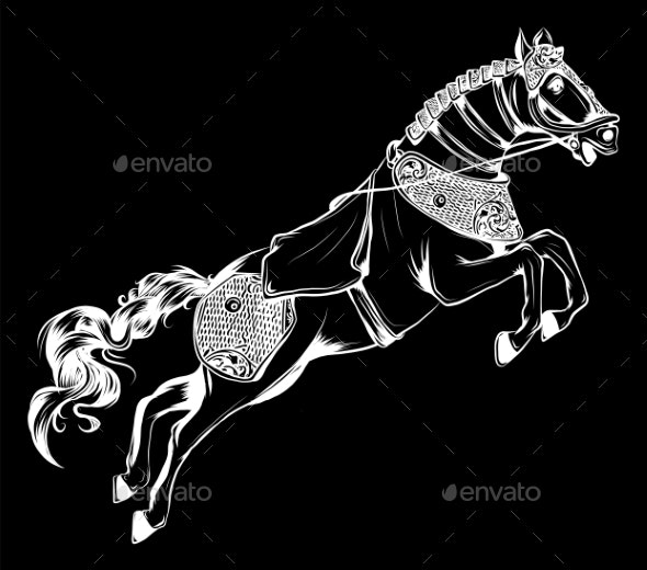Vector Illustration of Horse - Animals Characters