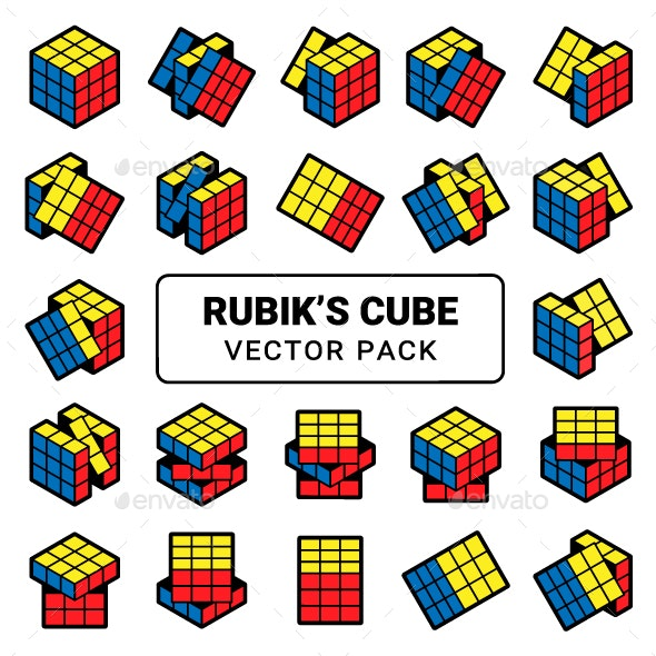 Rubik's Cube Isometric - Man-made Objects Objects