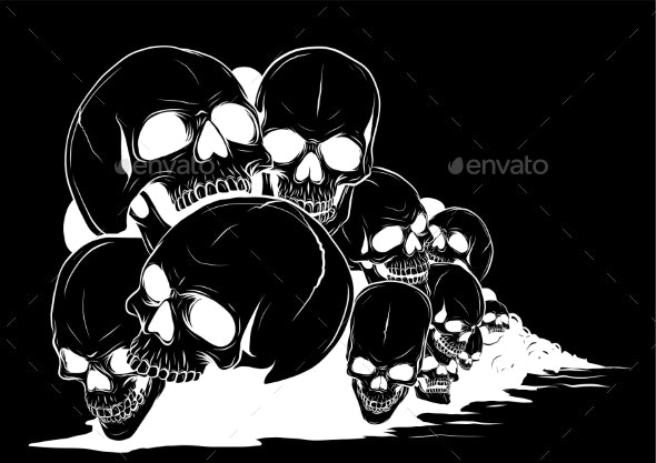Skull and Crossbones - Backgrounds Decorative