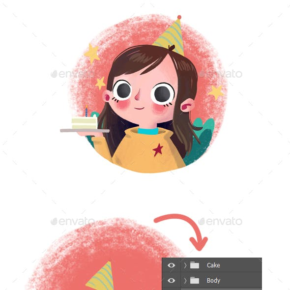 Birthday Girl Character